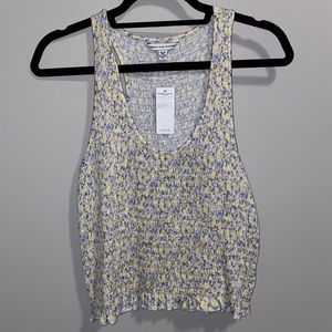 NWT American Eagle smocked cropped tank top